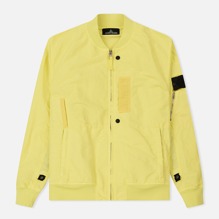 Мужская куртка бомбер Stone Island Shadow Project Flank Pocket Naslan Citric
