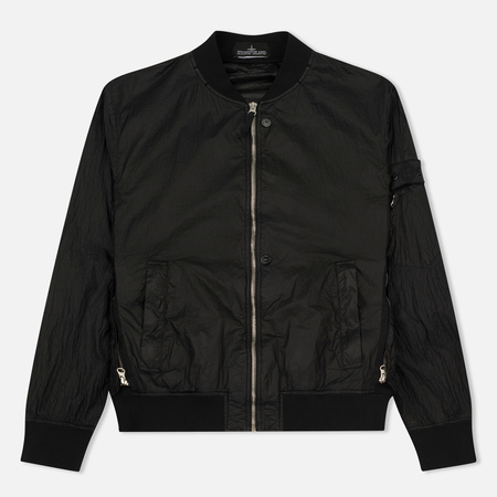 Мужская куртка бомбер Stone Island Shadow Project Sheer Vent Lucid Ultralight Nylon Black