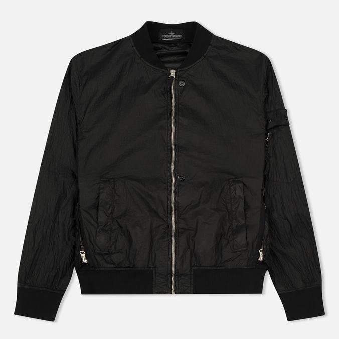Мужская куртка бомбер Stone Island Shadow Project Sheer Vent Lucid Ultralight Nylon Black