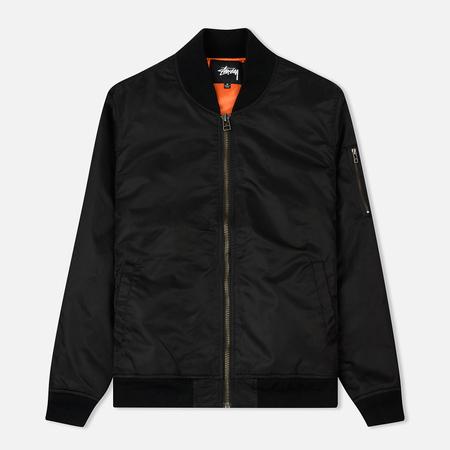 Мужская куртка бомбер Stussy Flight Satin Bomber Black