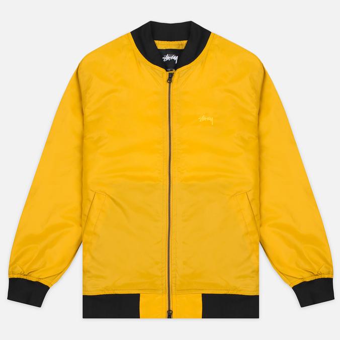 Мужская куртка бомбер Stussy Flight Satin Mustard