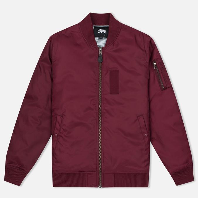 Мужская куртка бомбер Stussy MA-1 Burgundy