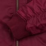 Мужская куртка бомбер Stussy MA-1 Burgundy фото- 3