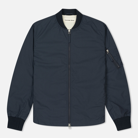 Мужская куртка бомбер Universal Works UW/MA1 Olmetex Tech Cotton Navy