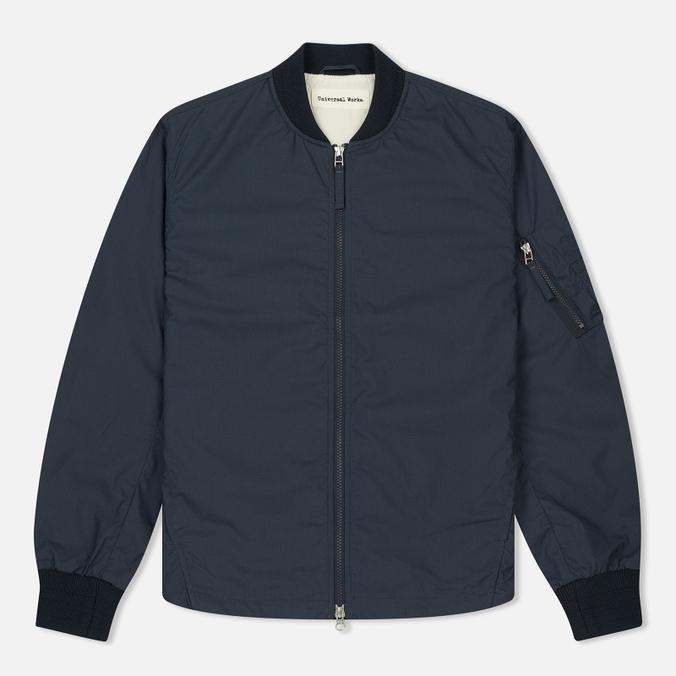 Мужская куртка бомбер Universal Works UW/MA1 Olmetex Tech Cotton Navy