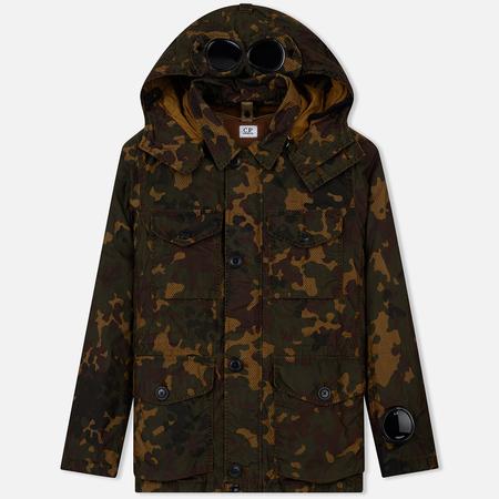Мужская куртка C.P. Company 50 Fili Camo GD Goggle Det. Inner Watchviewer Mille Ermine Brown