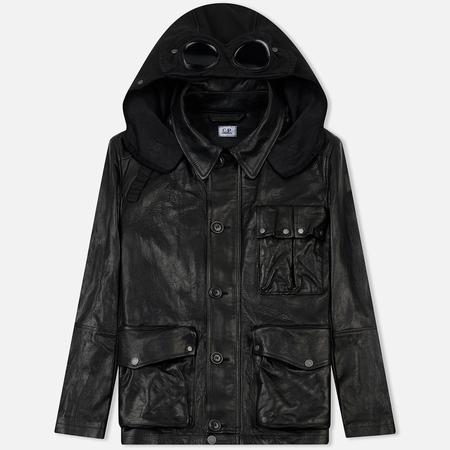 Мужская куртка C.P. Company Premium Leather Goggle Mille Field Black