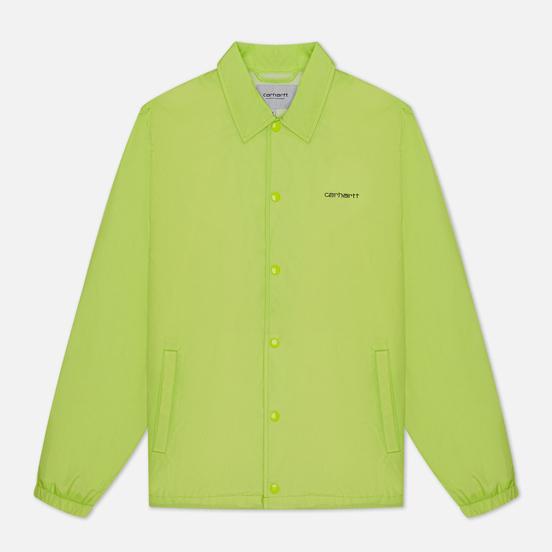 Мужская куртка Carhartt WIP Carhartt Script Coach 2.4 Oz Lime/Black