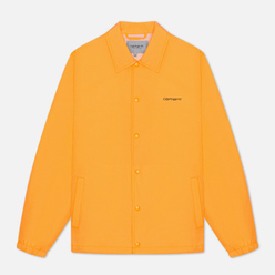 Мужская куртка Carhartt WIP Carhartt Script Coach 2.4 Oz Pop Orange/Black