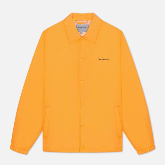 Мужская куртка Carhartt WIP Carhartt Script Coach 2.4 Oz Pop Orange/Black