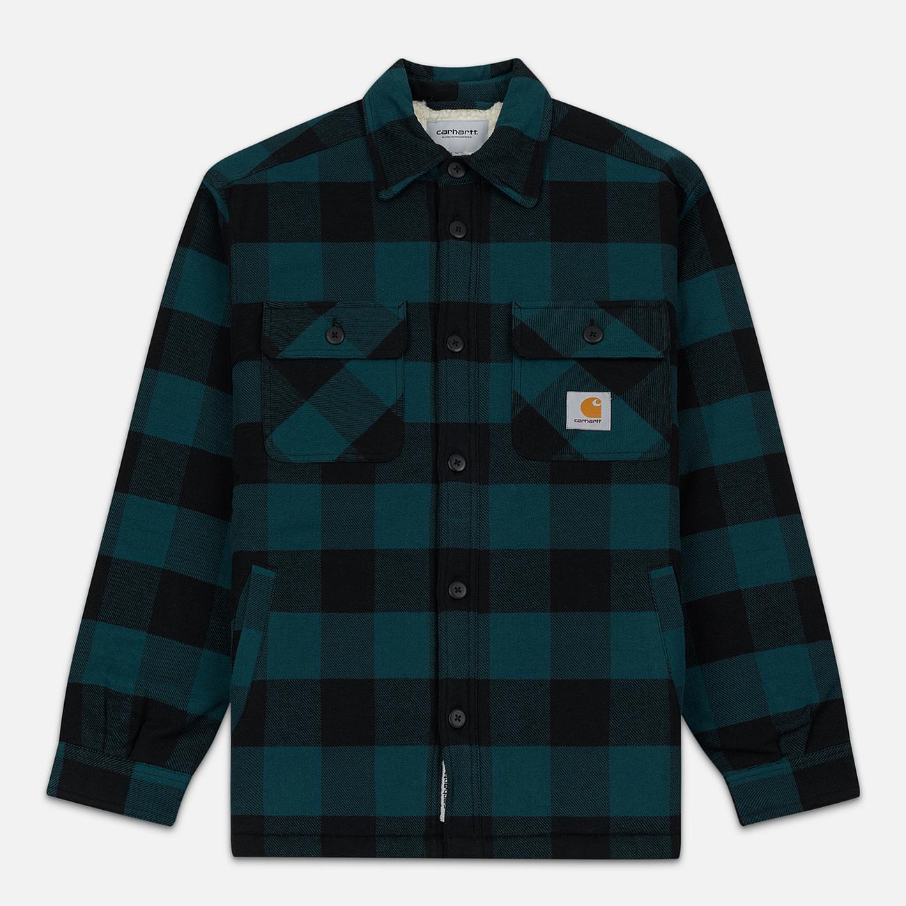 Мужская куртка Carhartt WIP Merton Check Dark Fir
