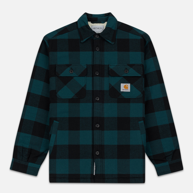 Мужская куртка Carhartt WIP Merton Check Dark Fir
