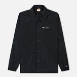 Мужская куртка Champion Reverse Weave Script Logo Satin Coach Black фото- 0