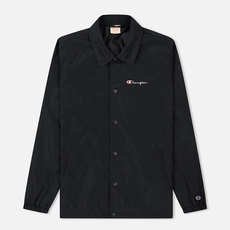 Мужская куртка Champion Reverse Weave Script Logo Satin Coach Black