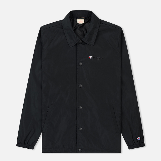 Мужская куртка Champion Reverse Weave Script Logo Satin Coach Black
