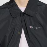 Мужская куртка Champion Reverse Weave Script Logo Satin Coach Black фото- 8