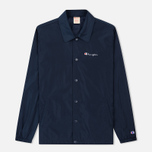Мужская куртка Champion Reverse Weave Script Logo Satin Coach Navy фото- 0