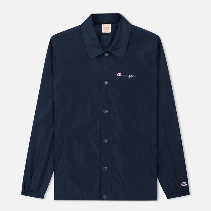 Мужская куртка Champion Reverse Weave Script Logo Satin Coach Navy