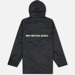 Мужская куртка дождевик MKI Miyuki-Zoku Logo Rainmac Black фото- 4