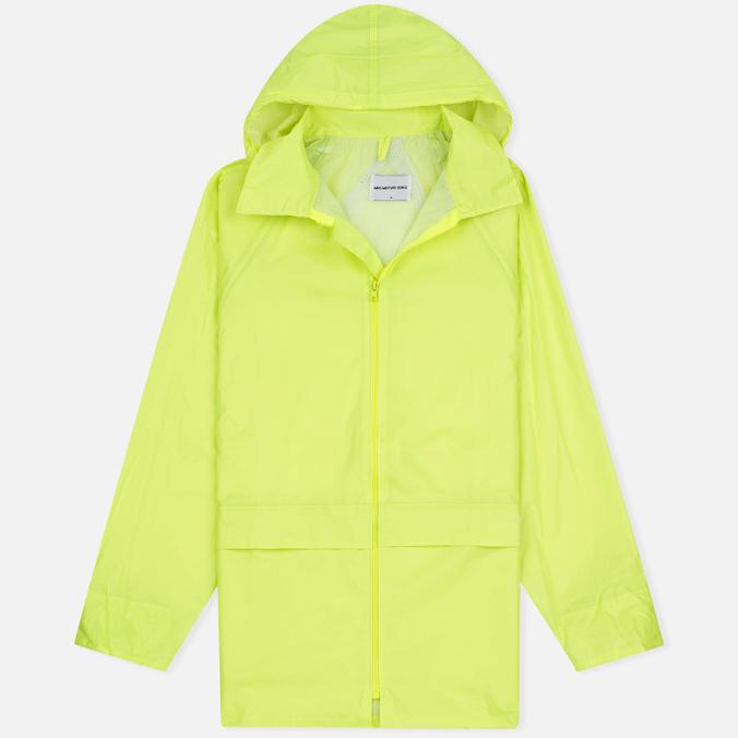 Мужская куртка дождевик MKI Miyuki-Zoku Logo Rainmac Flo Yellow