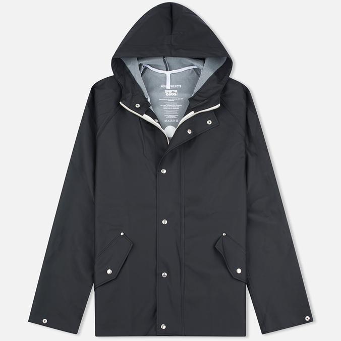 Мужская куртка дождевик Norse Projects x Elka Anker Classic Black
