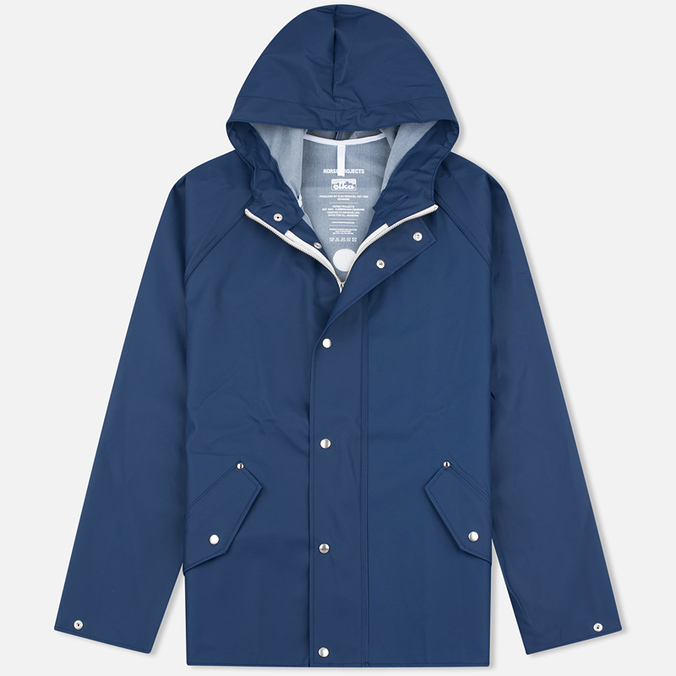 Мужская куртка дождевик Norse Projects x Elka Anker Classic Navy