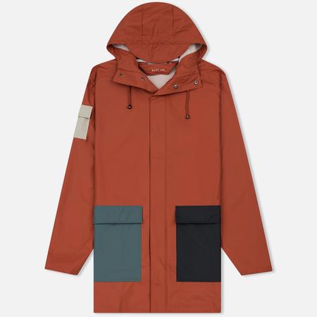 Мужская куртка дождевик Rains Camp Blue/Rust/Pacific/Moon
