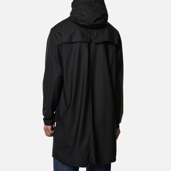 Мужская куртка дождевик Rains Long Jacket Black