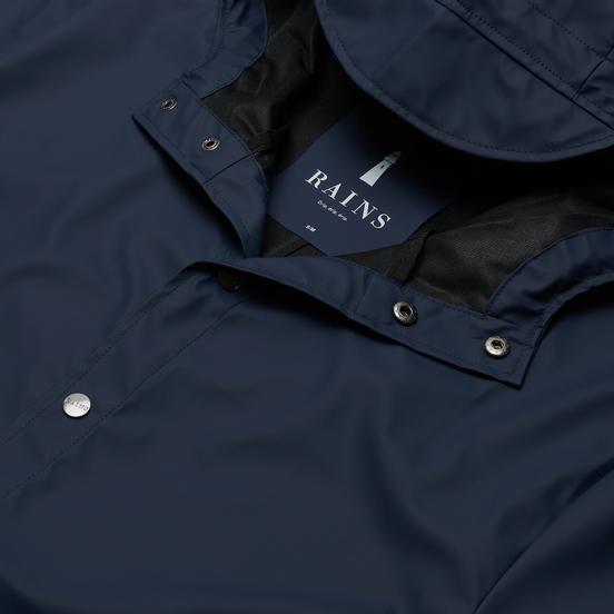 Мужская куртка дождевик Rains Long Jacket Blue