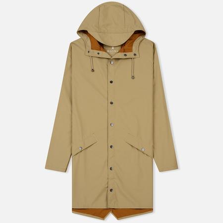 Мужская куртка дождевик Rains Long Jacket Desert