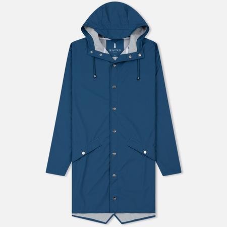 Мужская куртка дождевик Rains Long Jacket Faded Blue