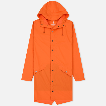 Мужская куртка дождевик Rains Long Jacket Fire Orange