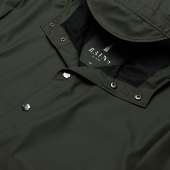 Мужская куртка дождевик Rains Long Jacket Green