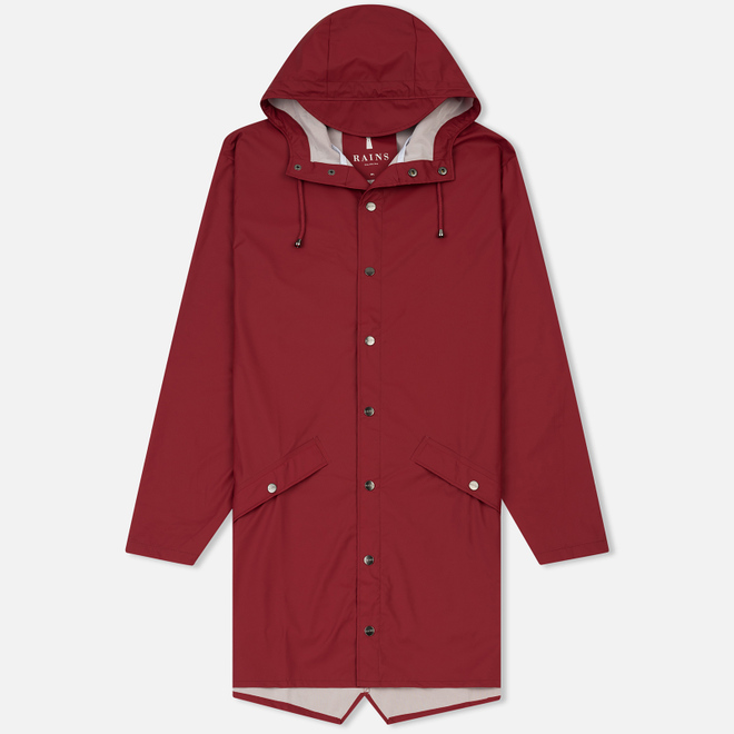 Мужская куртка дождевик Rains Long Jacket Scarlet