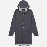 Мужская куртка дождевик Rains Long Jacket Smoke фото- 0