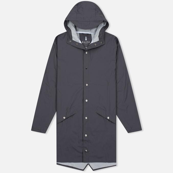 Мужская куртка дождевик Rains Long Jacket Smoke
