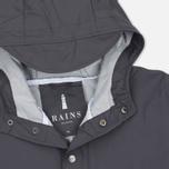 Мужская куртка дождевик Rains Long Jacket Smoke фото- 1