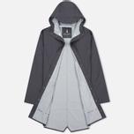 Мужская куртка дождевик Rains Long Jacket Smoke фото- 2
