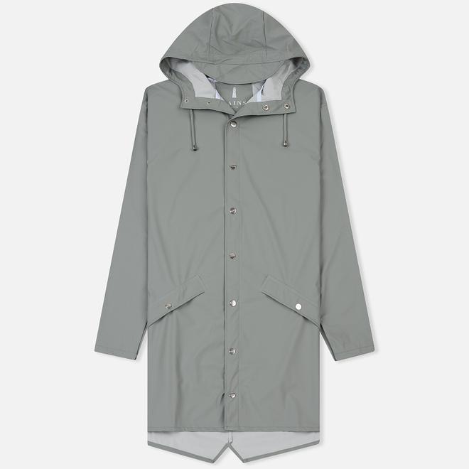 Мужская куртка дождевик Rains Long Jacket Stone