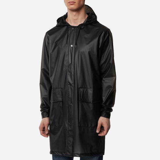 Мужская куртка дождевик Rains Transparent Hooded Foggy Black