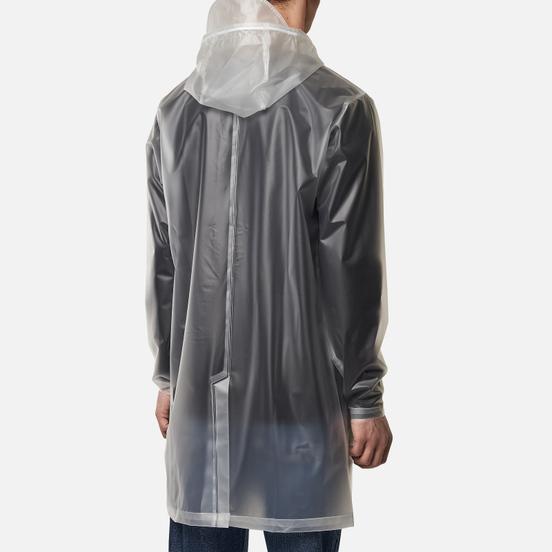 Мужская куртка дождевик Rains Transparent Hooded Foggy White