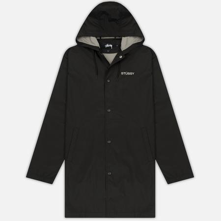 Мужская куртка дождевик Stussy Summer Long Hooded Coach Black