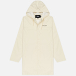 Мужская куртка дождевик Stussy Summer Long Hooded Coach Off White фото- 0