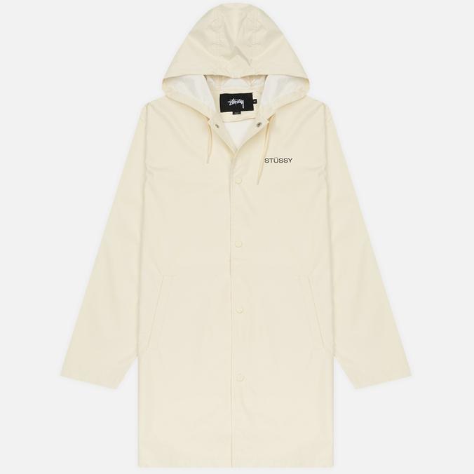 Мужская куртка дождевик Stussy Summer Long Hooded Coach Off White