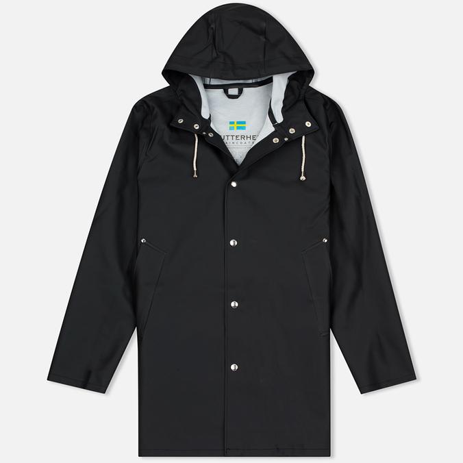 Мужская куртка дождевик Stutterheim Stockholm Black