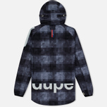 Мужская куртка Dupe Acid Tech 3L Hooded Shell Trafford Check Black/Dupe Logo Print фото- 5