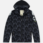 Мужская куртка Dupe Miglia Uno 3L Stowe Hooded Shell Milo Walsh Black/Black Cross Print фото- 0