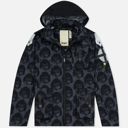 Мужская куртка Dupe Miglia Uno 3L Stowe Hooded Shell Milo Walsh Black/Black Cross Print