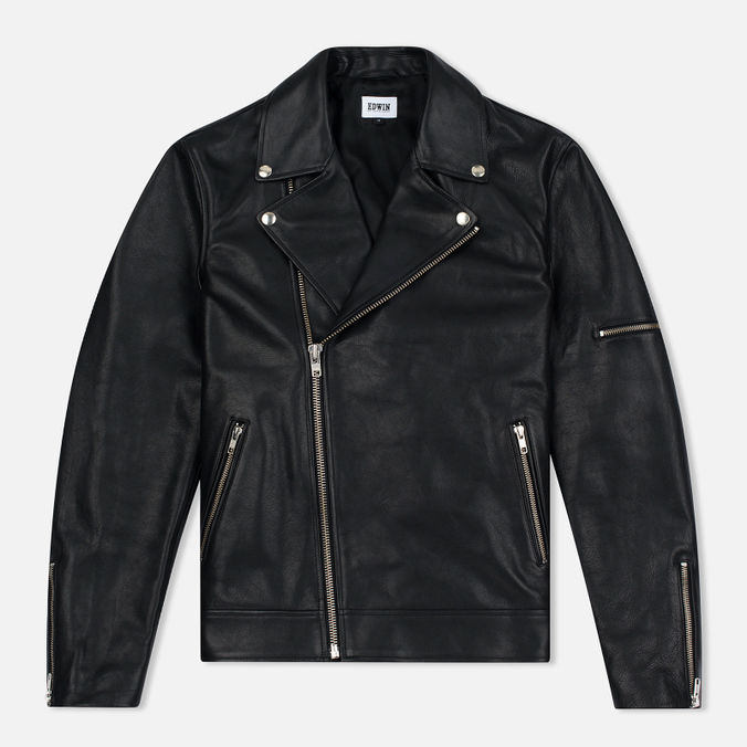 Мужская куртка Edwin Rider Cow Leather Black Garment Washed