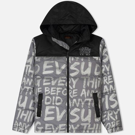 Мужская куртка Evisu All Over Evisu Statement Printed Down Grey